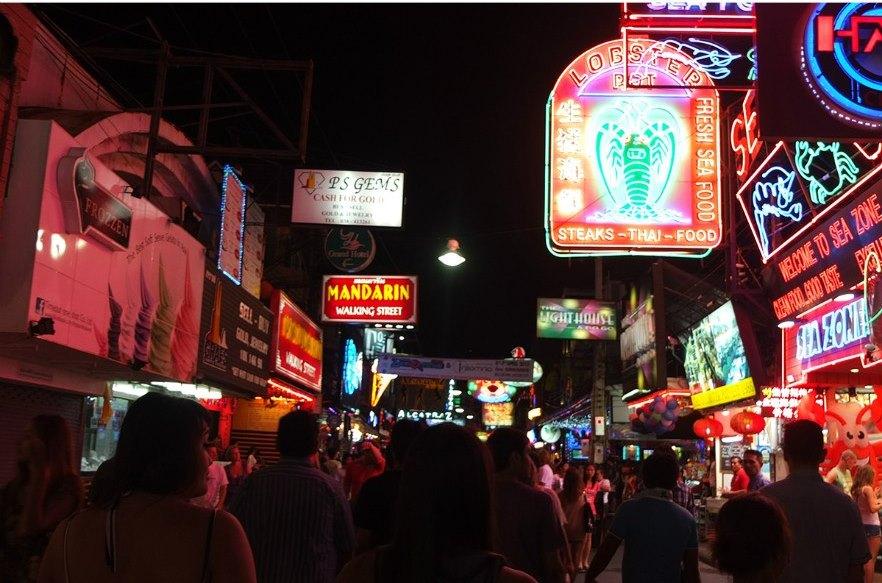Волкинг Стрит в Паттайе