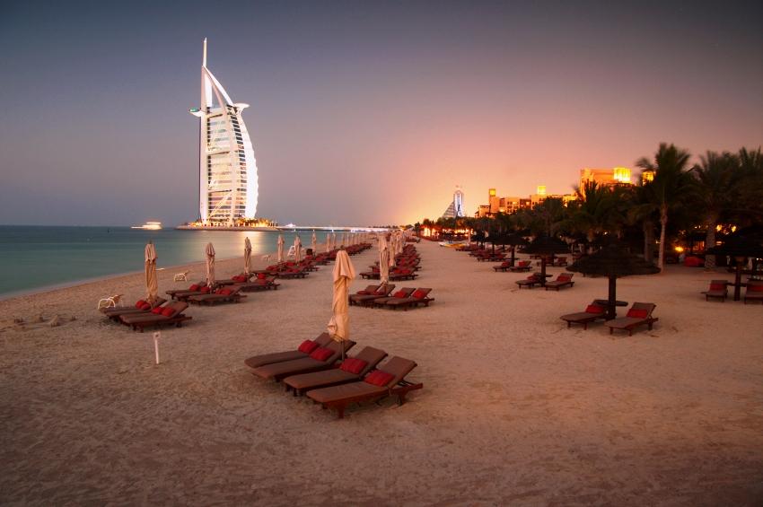 Пляж Дубая